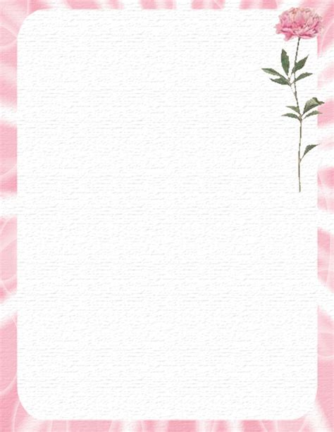 printable stationary download floral stationery theme free page 1