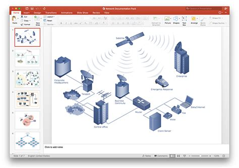 How To Add A Telecommunication Network Diagram To A Telecommunication Presentation