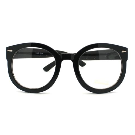 black oversized thick horn clear lens fashion