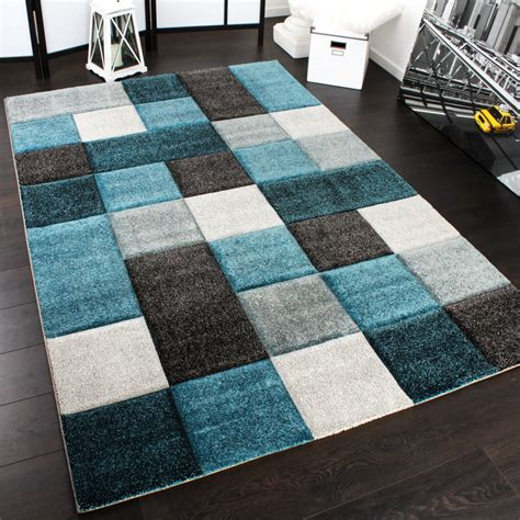 teppiche 150x150 designer carpet checkered modern rug contour cut pattern