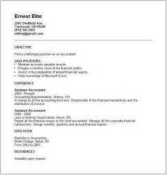 Resume Ex by Accounting Resume Exles And Career Advice