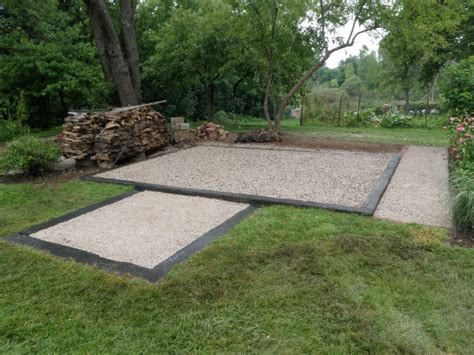 Shed Foundation Gravel by 12x16 Foot Shed Foundation Building Construction