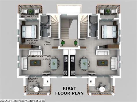 In Law Suite Designs hisar apartments hisaronu 1st floor duplex off plan