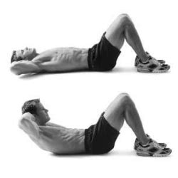 abdominal crunches   place  arms