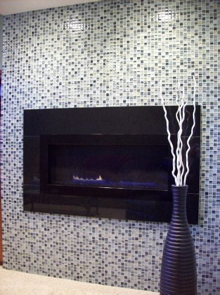 glass tile mosaic fireplace durham tile inc