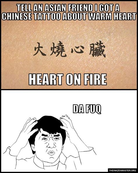 Asian Friend Meme - 56 best stupid shit of chinese tattoo images on pinterest