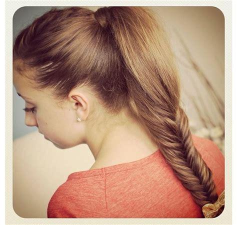 darling ponytail hair cute girls hairstyles cgh fluffy fishtail darling
