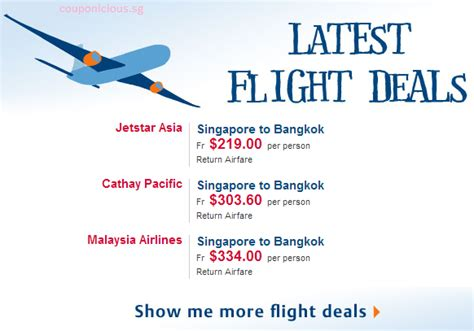 zuji singapore bangkok airfares promotions limited time only