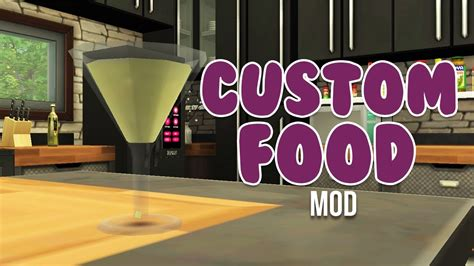 Custom Food custom food and more mod the sims 4 mods