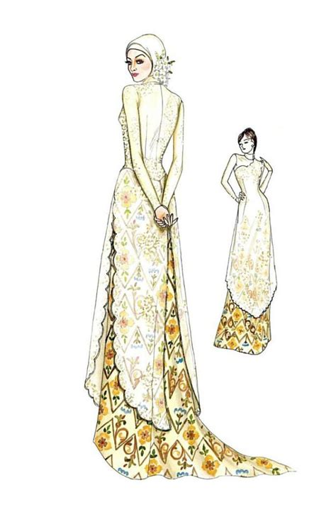 sketch design gaun 17 best images about kebaya wedding modern on pinterest