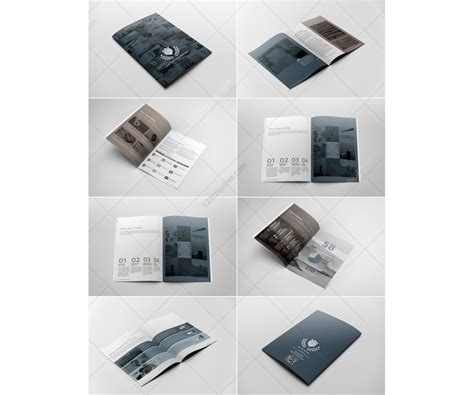 corporate brochure template professional 12 pages