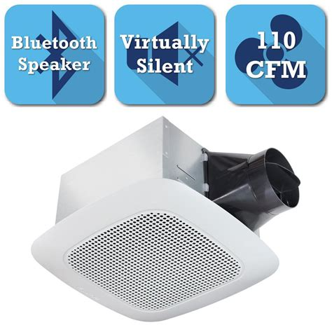 exhaust fan with bluetooth speaker delta breez signature series 110 cfm ceiling bathroom