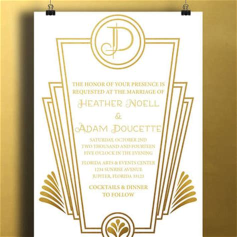great gatsby invitation template best gatsby invitations products on wanelo