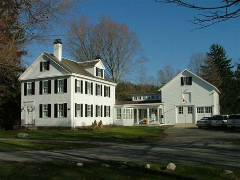 Traditional Cape Cod House Plans new link between historic house and barn victorian