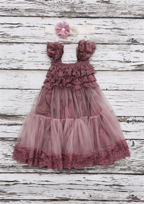 Shabby 2 Shabby Dress Gamis Dress Muslim flower dress lace flowergirl dress shabby chic vintage dress dusty flower