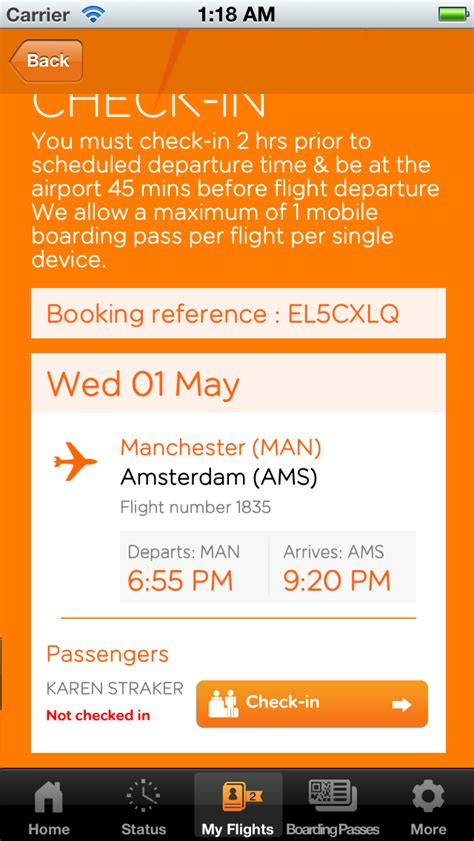 easyjet mobile boarding pass easyjet adds support for passbook boarding passes iclarified