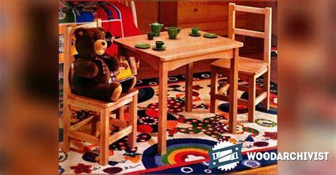 kids table  chair set plan woodarchivist