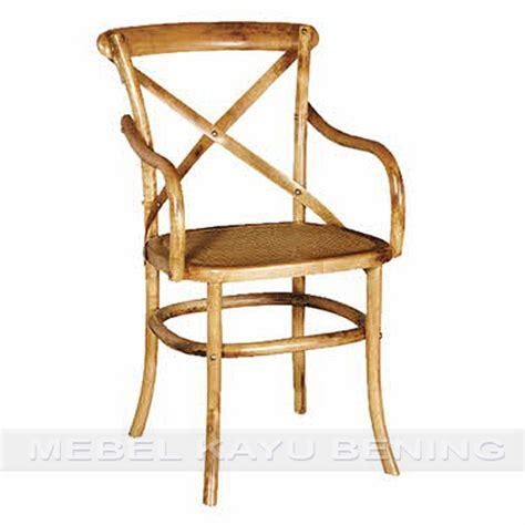 Kursi Kayu Antik kursi makan antik kayu jati cowboy crossback tanganan