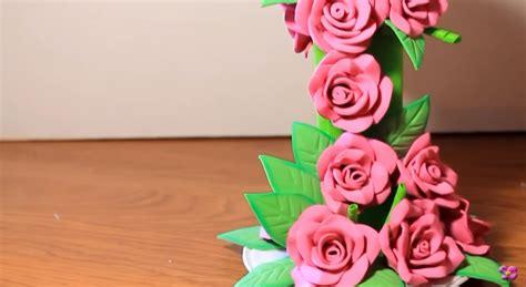 como aser centrovd meza d goma eva centro de mesa con cascada de flores de goma eva