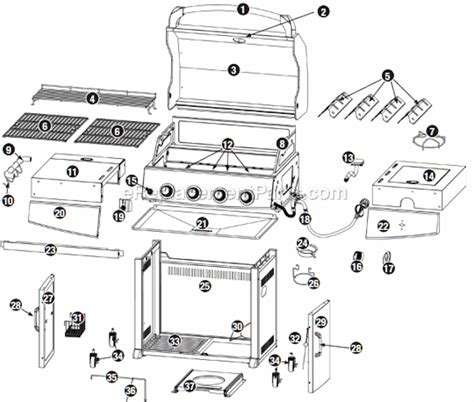 Backyard Grill Parts Uniflame Gbc850w C Parts List And Diagram Ereplacementparts