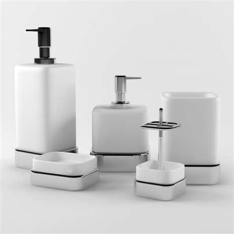Bath Accessories 3d Model 3d Model Bathroom Accessories Set 03
