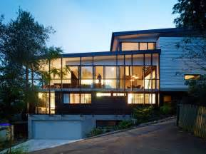 Slope House Creative Design Solutions Implemented In Modern House On A