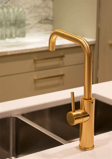 gold kitchen faucets aquabrass master chef kitchen faucet in a brushed gold finish featured in kellydeckdesign