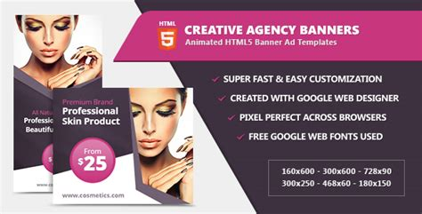 Beauty Fashion Banner Ad Templates Html5 Css By Infiniweb Codecanyon Html5 Ad Templates