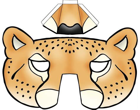 In Home Christmas Decorating Ideas by Kids Face Masks Template Animals Leopard 3d Nose