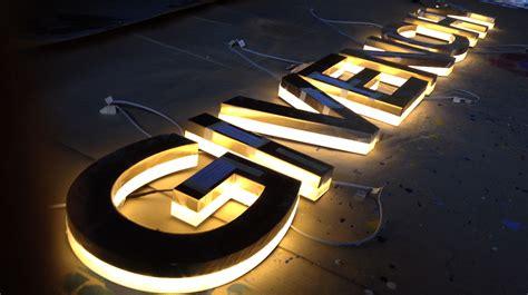 lettere luminose lettere luminose scatolate in ottone bagno oro 24k