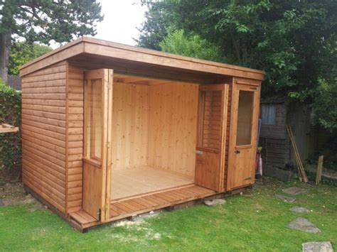 pent roofed summerhouses apex timber buildings