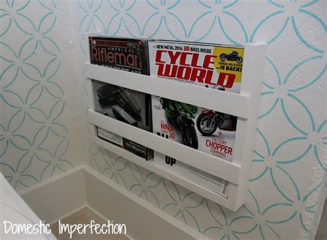 wall magazine holder bathroom 5 built in magazine rack domestic imperfection