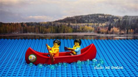 lego boat in motion lego stop motion row row row our boat youtube