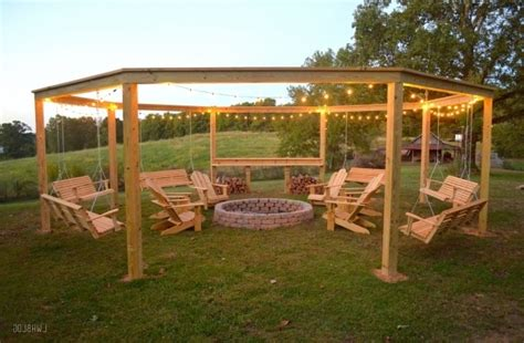 firepit swing porch swing pit pit ideas