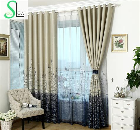 thick bedroom curtains slow soul mediterranean sea castle thick curtains cloth