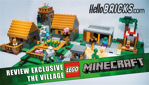 House Plans Blueprints by Review Lego Minecraft 21128 Le Village Hellobricks