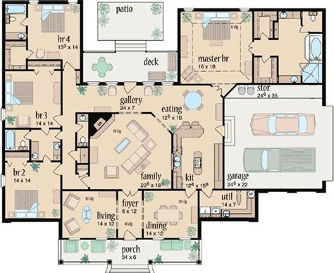 3 bedroom country house plans best 25 4 bedroom house ideas on 4 bedroom