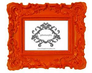 Orange picture frame eclectic picture frames by supermarket