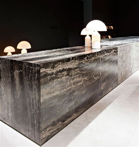 Granite Reception Desk Hullebusch Caf 201 Au Lait Interieur 2014 Hullebusch Realisations