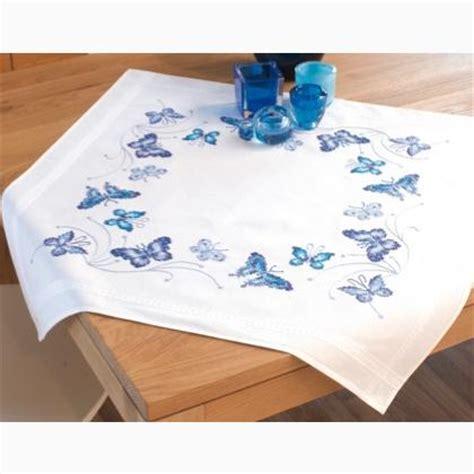 punto croce tovaglie da tavola tovaglia farfalle da vervaco per la casa