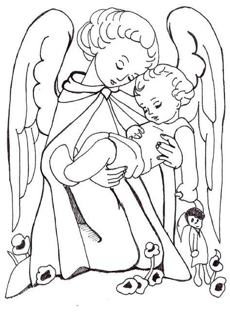 coloring pages of guardian angels guardian angel coloring page color pages pinterest