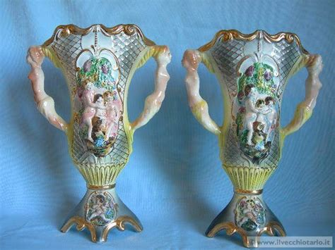 vasi capodimonte coppia vasi saas capodimonte antiques and collectibles
