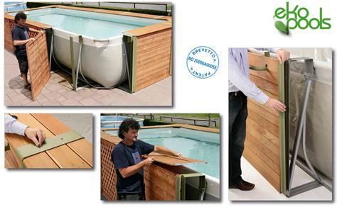 piscine fuori terra rivestite in legno piscine rivestite in legno look personalizzabili senza