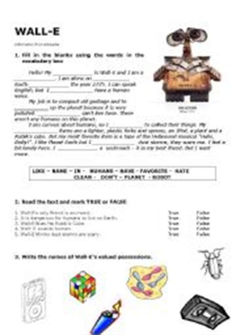 wall e movie questions by nicole duhr teachers pay teachers english worksheets wall e