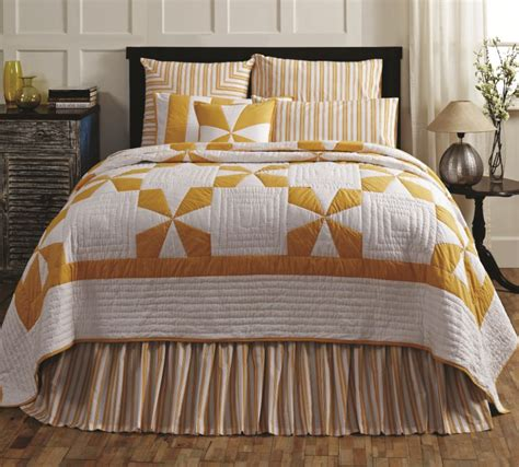 Primitive Crib Bedding Country Yellow Patch Quilt