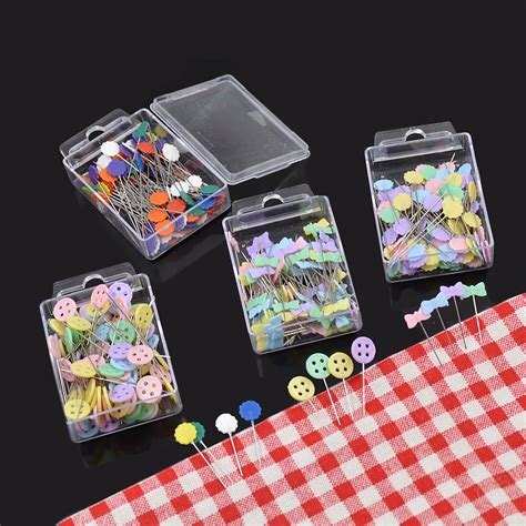 As A Button Patchwork - 1 box patchwork pins plastic sewing quilting tool button