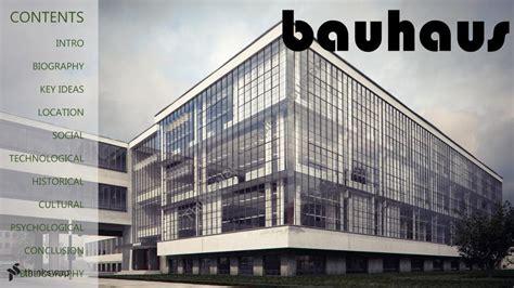 Das Bauhaus Walter Gropius by Walter Gropius Bauhaus Powerpoint Presentation Inta3322