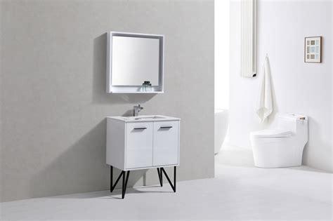 High Gloss Bathroom Vanity 30 Inch High Gloss White Bathroom Vanity With Quartz Countertop And Matching Mirror
