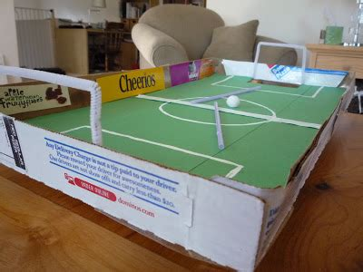 How To Make A Soccer Out Of Paper - crafty pizza box football