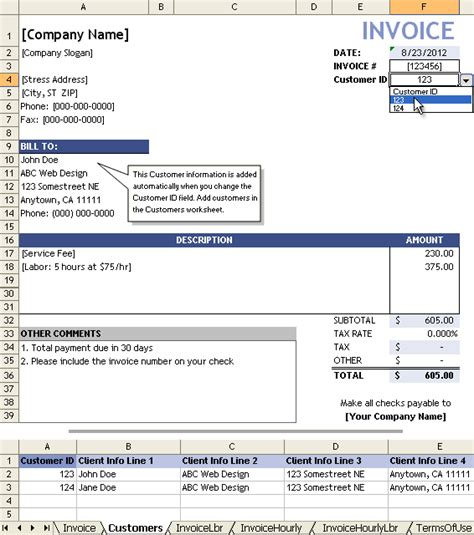 service invoice service invoice template for consultants and service providers